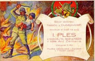 Hasičský ples 1928.01.14