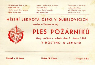 Hasičský ples 1969.02.01